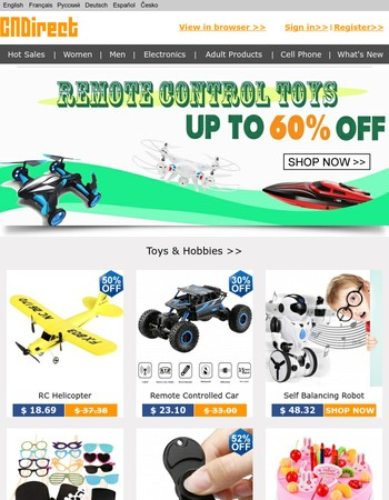 Remote Control Toys: Up To 60% Off