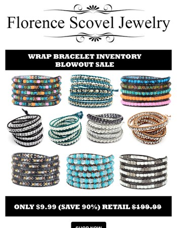 Stunning Wrap Bracelets - Deals For Up To 90% Off!