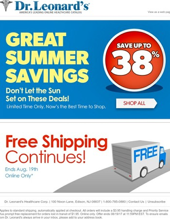 Save up to 38%, plus Get Free Shipping