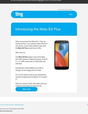 Device Alert: the new Moto E4 Plus
