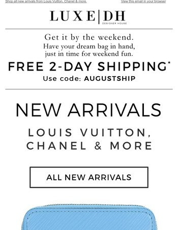 Final Hours for Free 2-Day Shipping + New Arrivals.