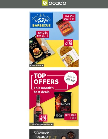 £20 off your first shop, plus great offers for the grill