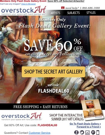 Flash Sale: 60% Off Select Art ⚡