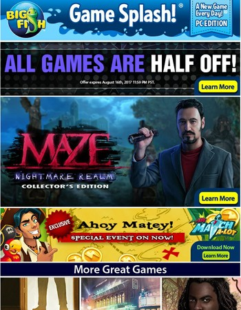 Today Only - All Games Half Off!