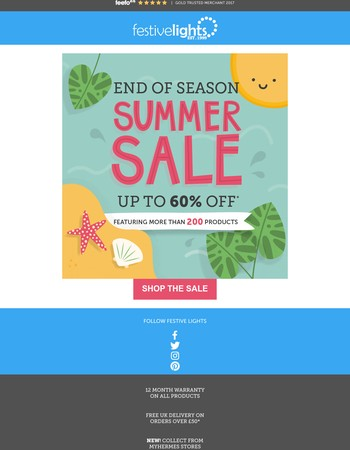 End of Summer Sale NOW ON!