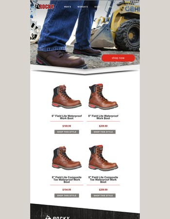 Michael, tackle your work environment with confidence. Shop Rocky Field Lite!