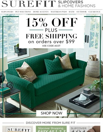 Summer Savings! 15% Off Plus Free Shipping on Your Orders