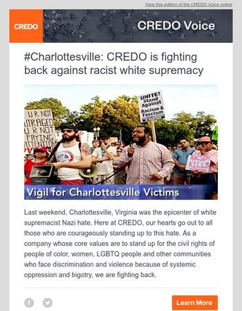 CREDO Voice: #Charlottesville
