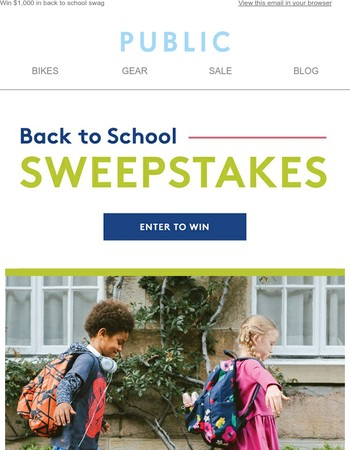 We're giving away $1,000 in Back to School essentials