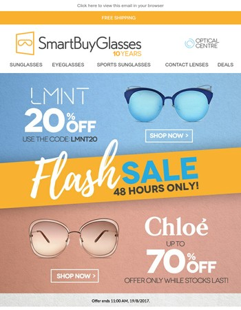 20% Off LMNT / Up to 70% off Chloe: Take your pick
