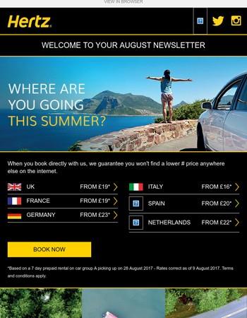 Where will you discover? Go via Hertz.