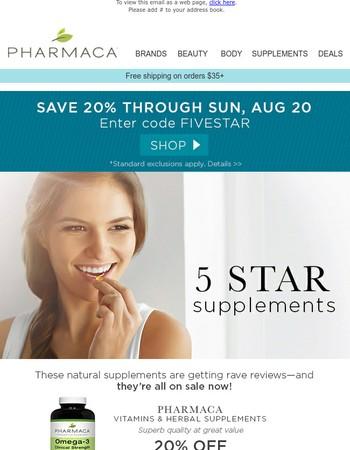 Shop supplements that get rave reviews
