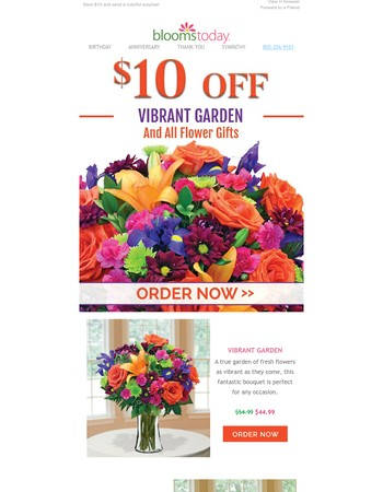 Trending: Vibrant Garden - Save $10 today only