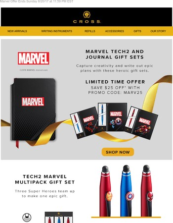 Ends Sunday! Back To School (Or Work) Offers on Marvel!