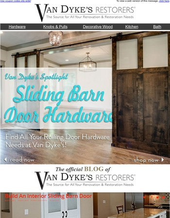Give Your Home a Rustic Look with Rolling Doors from Van Dyke's!