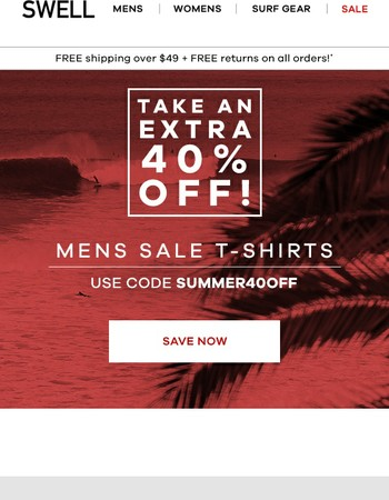 Extra 40% off sale tees!