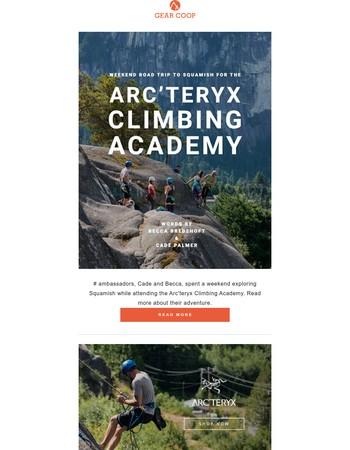 Cade and Becca Attend the Arc'teryx Climbing Academy