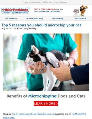 Top 5 reasons you should microchip your pet