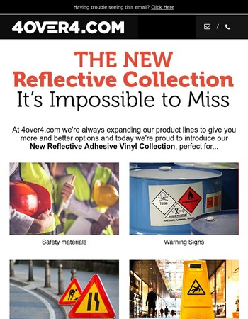 STOP! Reflective Prints are Here!
