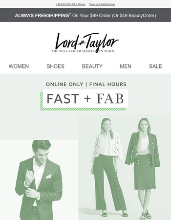 FINAL HOURS: Up to 75% OFF Wear-to-Work Styles