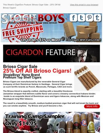 This Week's CigarDon Feature:Brioso Cigar Sale