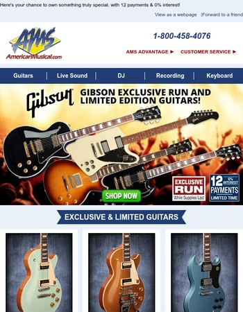 Don't Miss Out: Exclusive Run & Limited Edition Gibsons are Here