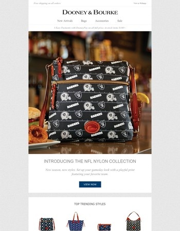 Introducing the NFL Nylon Collection