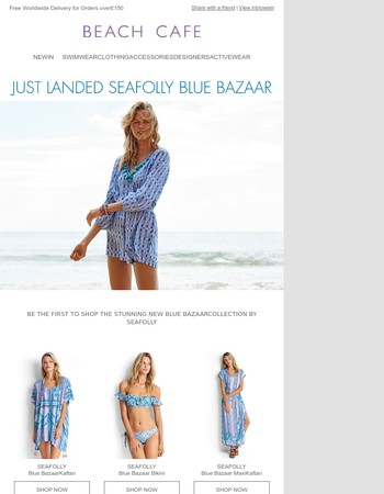 Be the First to Shop Seafolly Blue Bazaar