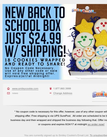 Our Back To School Box is BACK & SHIPS FOR FREE!