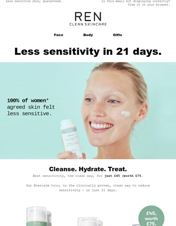 Less Sensitive Skin for Just £45 (worth £75)