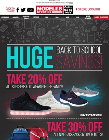 Trend ✔ list: Save 30% Off Nike Backpacks & 20% Off Skechers!