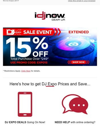 DJ Expo Sale EXTENDED