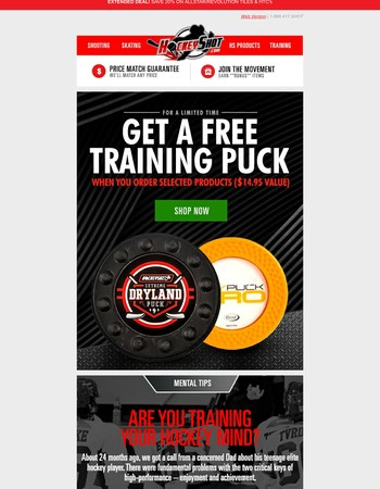 Train your Hockey Mind & Body with a Free Puck