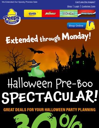 PLAN AHEAD - Save 30% on Halloween Treats