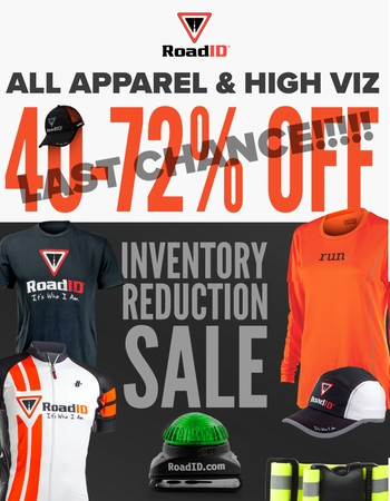 Heads-up! Apparel and High-Viz Sale ends TONIGHT!