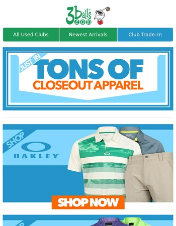 Just In: Closeout Apparel