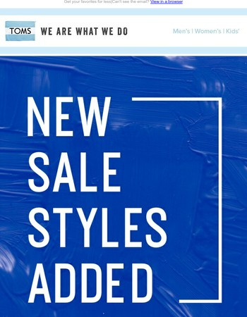 Check out what's new on SALE