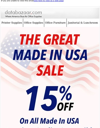 The Great Made In USA Sale