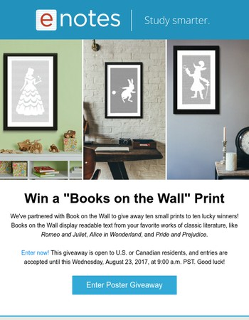 Book Lover? Enter This Giveaway (10 Winners!)