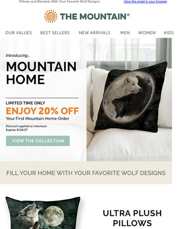 All New! Mountain Home + 20% Off For a Limited Time