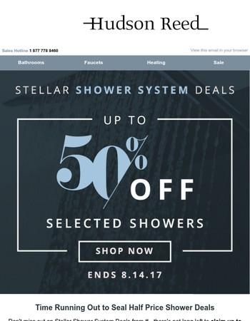 Stellar Shower System Savings Must End Soon!