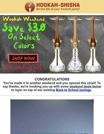 ★Wookah Weekend Sale + 20% Off Shisha Deals★