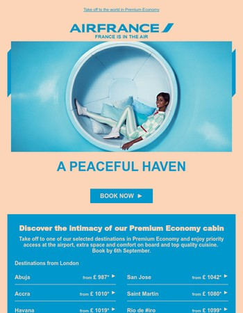 Amazing offers in Premium Economy
