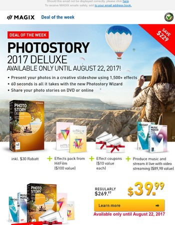 Deal of the Week: Photostory Deluxe now including 1,500 effects - Save $229