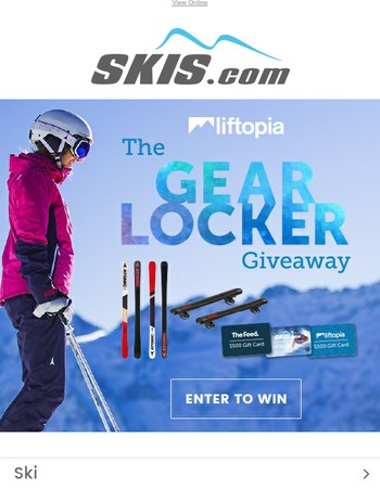 The Gear Locker Giveaway | Win $4,000 In Sweepstakes Prizes