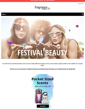 Festival Beauty Plus Our Essentials For Him & Her