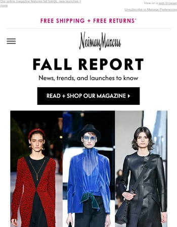 What to know for fall: Red, velvet & our favorite looks