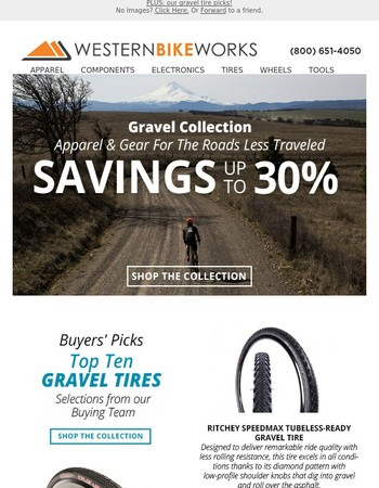 Up to 30% Off Gravel Gear