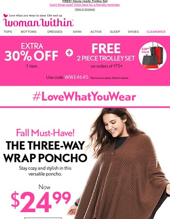 Introducing... The 3-Way Poncho!