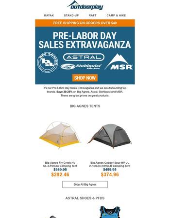Pre-Labor Day Sales Extravaganza - Save 20-25% On Top Brands